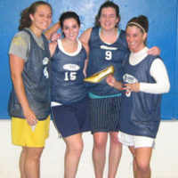 Fall 2008: Women's 4v4 League Champs: Hot Dog Toboggan
